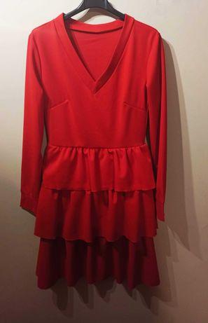 Sukienka czerwona s/m