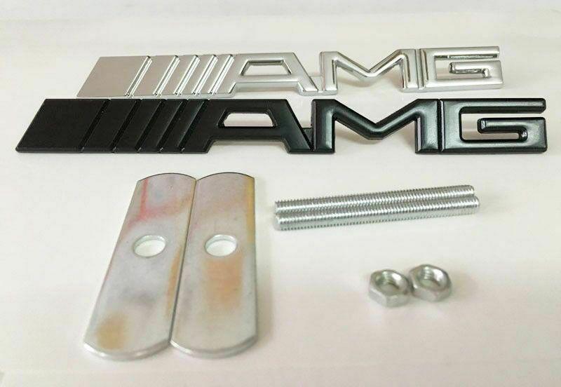 NOWY emblemat znaczek AMG na przedni grill Mercedes Benz logo METAL Zamość - image 1