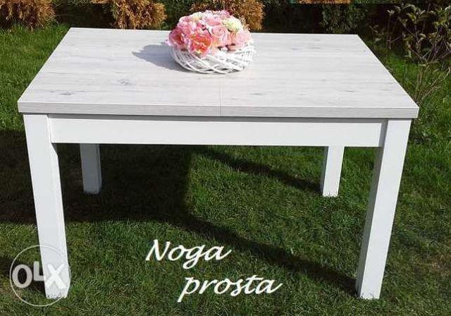 Szary biały stół rozkładany prowansalski 120x80 Prowansja Vintage