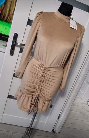 Nowa Sukienka Aksamit Uni