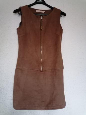 Sukienka zamsz DROLE DE COPINS