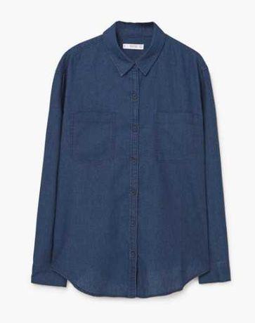 Рубашка синяя Mango M (46/48)