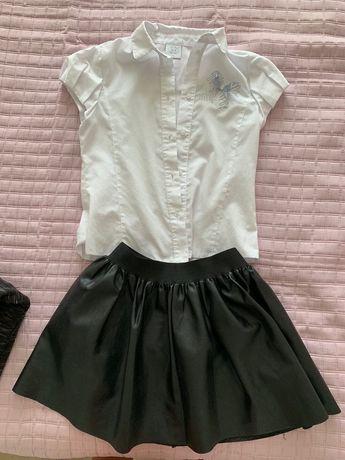 Юбка кожаная детская юбочка Zara