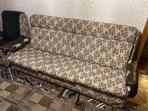 Продам диван двохмісний 2х місний розкладний диван ліжко матрац львів