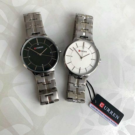 Часы мужские женские Curren на металлическом браслете карен каррен