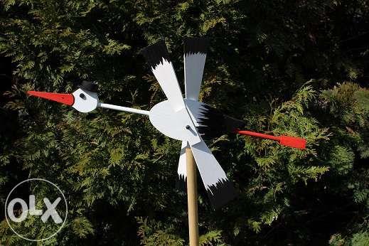 wiatrak ogrodowy- bocian i inne - rękodzieło