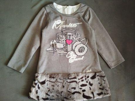 Тёплое платье для девочки Next Zara Matalan платтячко сукня