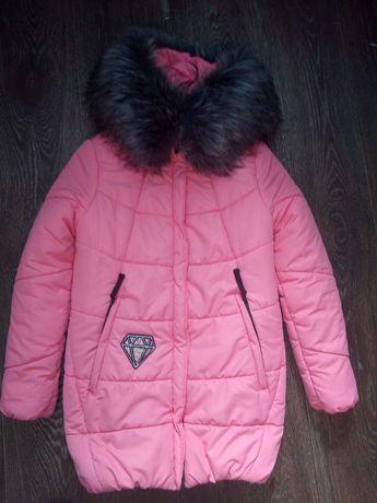 Зимняя куртка на  рост 146 см