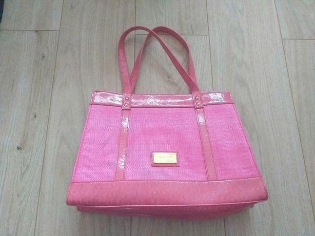 Różowa torebka na ramię lub do ręki Valentino podr.