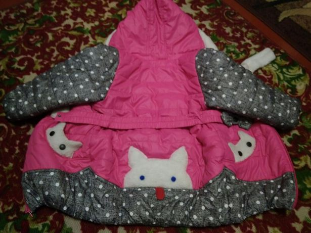 Зимнее пальто на 3-4 года 110см
