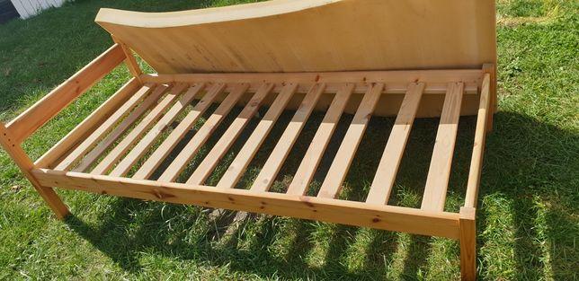 łóżko pojedyncze stelaż drewniany plus materac
