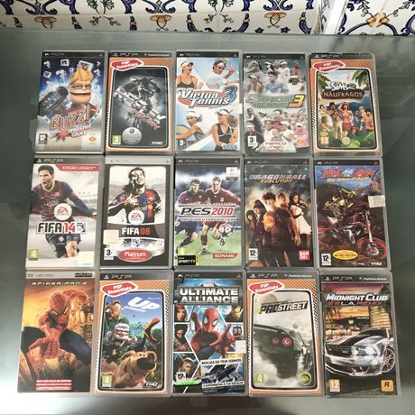 Caixas de Jogos PSP Playstation Portable Sony videojogos acessorios