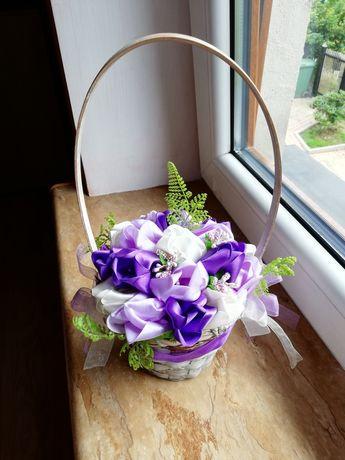 Koszyk ozdobny kwiaty
