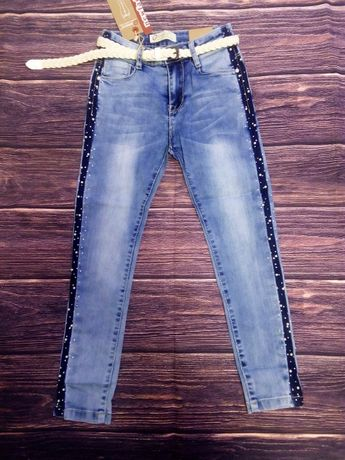 Стильные джинсы скинни 128-158. Венгрия Seagull