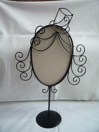 Czarna Ramka na lustro Ciekawy Stojak na nóżce Głowa Kobiety