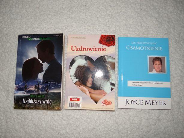 Książki romanse 3 szt