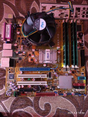 Комплект Asus P5K-VM + Intel Quad Q8400 + 8Gb Ram. LGA775.