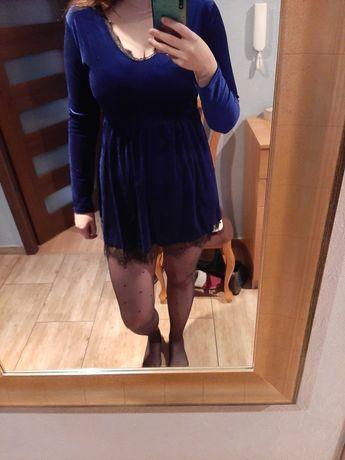 Nowa welurowa sukienka