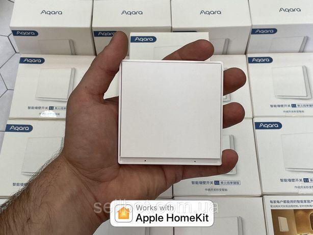 ⫸Розумний вимикач Aqara E1 Wall Switch EU QBKG38LM Выключатель HomeKit