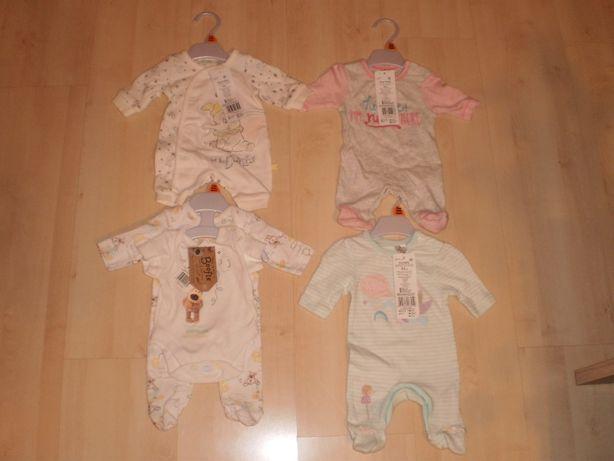 Ubranka dla noworodków NOWE NIE UŻYWANE!! 4szt, tanio!! OKAZJA!!
