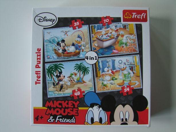 Puzzle Myszka Miki Trefl 4w1
