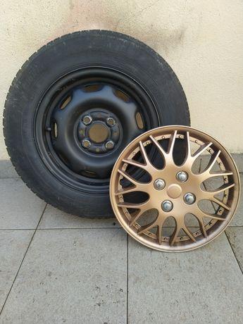 Jantes 13 com pneus e tampões