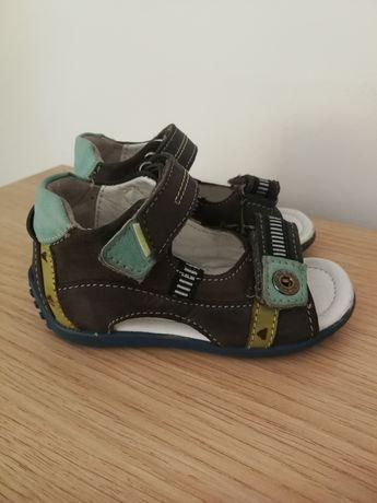Sandałki chłopięce Lasocki 20 na rzepy skórzane