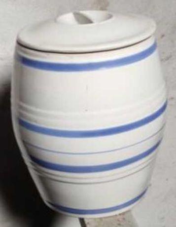 Керамический бочонок с крышкой
