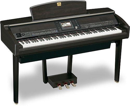 Yamaha CVP-405 Clavinova pianino cyfrowe - Zestaw z oryginalną ławą
