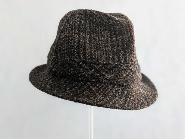 Шляпа Harris Tweed Wool Trilby Hat by 'Dunn & Co', Great Britain