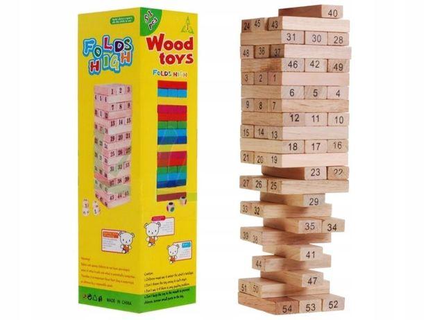 Gra Zręcznościowa Edukacyjna Drewniana Jenga Wieża