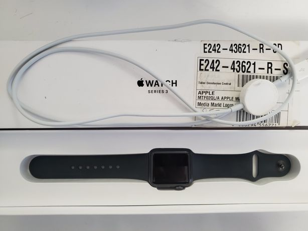 Apple Watch Series 3 38mm Space Gray Black GPS A1858