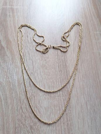 AMERIKANER naszyjnik  wisior złoto double art deco