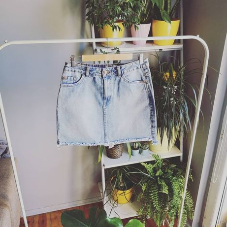 Spódniczka jasny jeans jeansowa denim new look 40 L