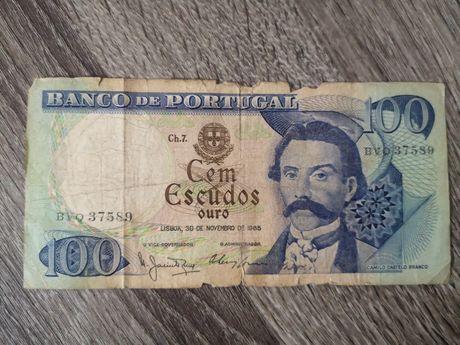 Nota 100 escudos 1965