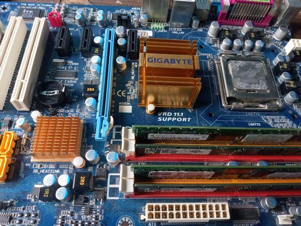 Płyta główna Gigabyte + procesor intel dual core + ram