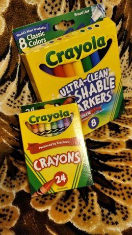 маркери crayola 8 цветов карандаши супер-смывающиеся америка оргинал