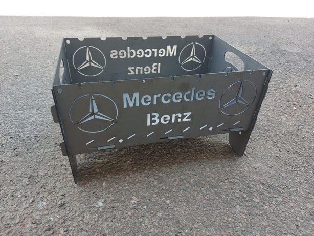 Мангал разборный Mercedes, 7 шампуров, ДРОП/ОПТ(есть разные лого авто)