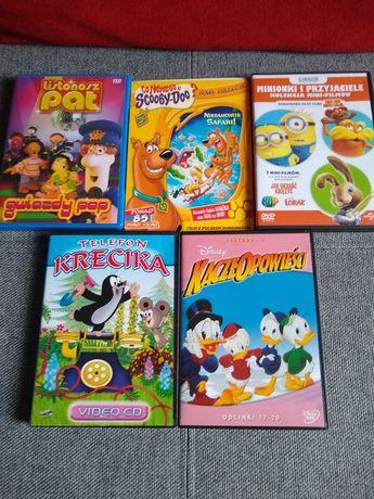 5 różnych bajek DVD