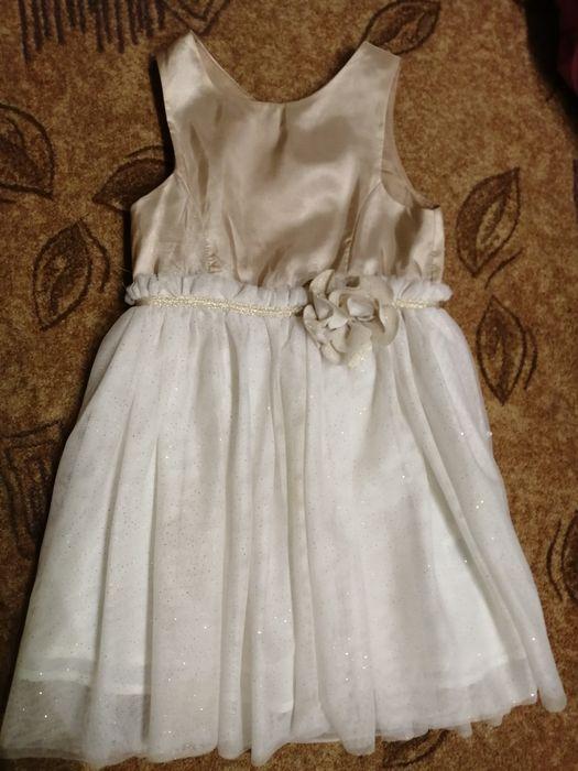 Sukienka złota H&M 110/116 Sady - image 1