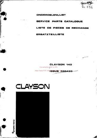 Katalog części kombajn Clayston 140