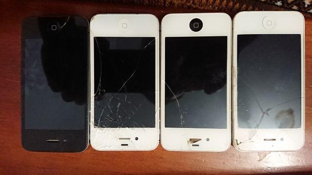 Продам 5 шт. iPhone 4 , 4s не рабочие , после мастерской.