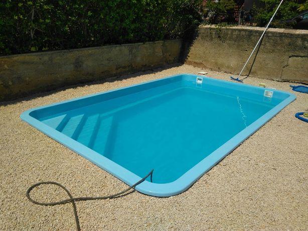 Basen ogrodowy poliestrowy gotowy kąpielowy 5x3,2x1,5 PRODUCENT
