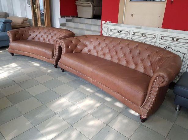 Новый кожаный комплект 3+2 кожаный диван Честерфилд Chesterfield