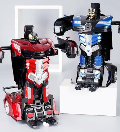 Машинка робот аккумуляторный трансформер на радиоуправлении 29 см.