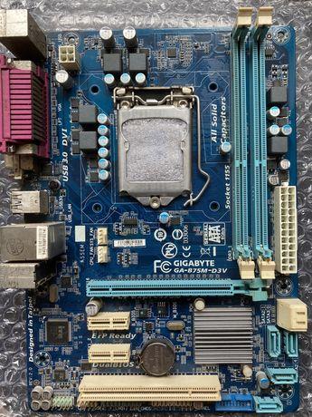 Материнская плата Gigabyte GA-B75M-D3V s1155, socket 1155