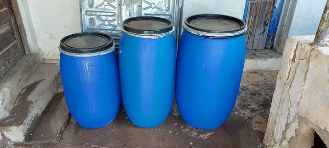 Barricas plástico 30, 100, 130, 170 e 220 litros c/ tampa