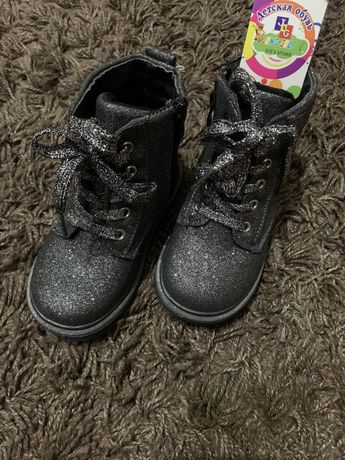 Новые ботинки, ботиночки деми на девочку, 24 размер!