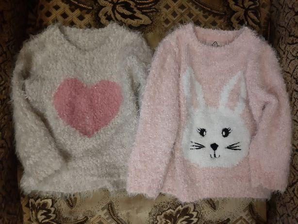Тепленький стильный свитер на девочку 2-3 годика