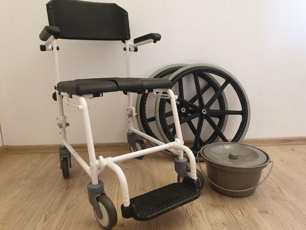 Wózek TOALETOWY NOWY z wymiennymi kołami